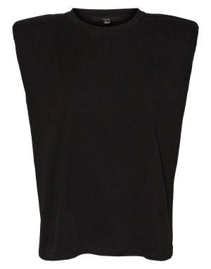 Vero Moda Nete Sleeveless Padded T-shirt in Black