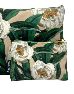 Vanilla Fly Velvet Pouch Small - Print 17