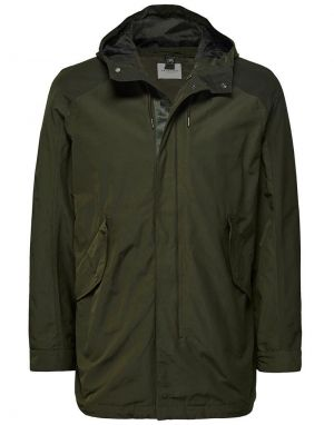 selected homme shoreditch parka coat in green