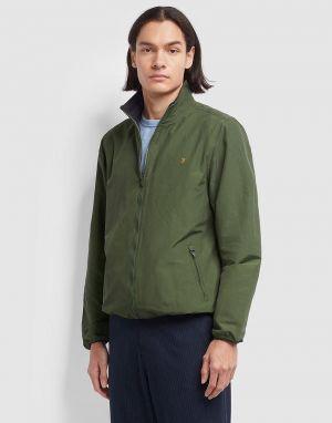 talbot blouson jacket in moss green