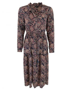 Black Colour Luna Rose Boho Dress in Midnight Blush