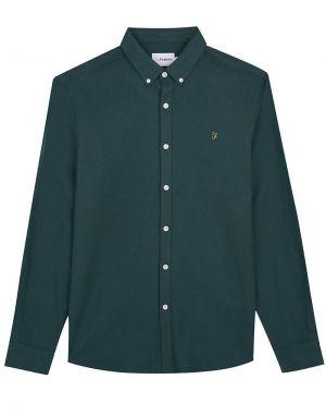 Farah Minshell Slim Shirt in Emerald Green