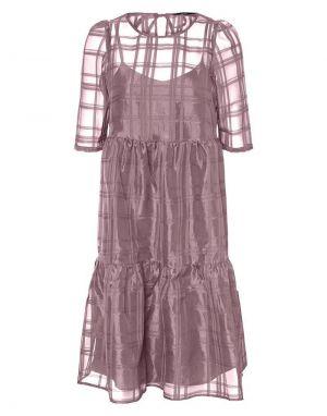 Vero Moda Ava Organza Dress in Toadstool
