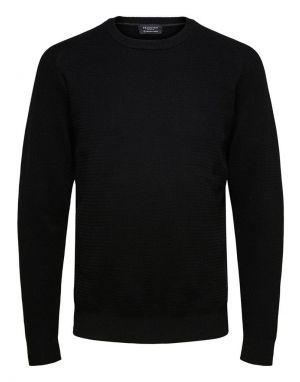 Selected Homme Cornelius Jumper in Black