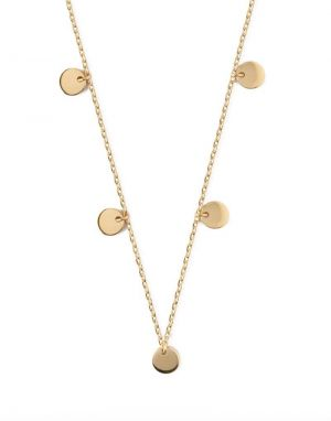 Orelia Disc Multi Drop Necklace in Gold