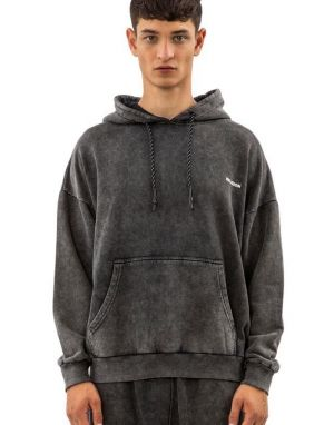 Religion Acid Patch Hoody in Grey Wash