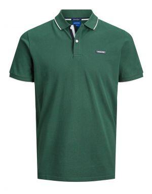 Jack and Jones London Polo Shirt in Trekking Green