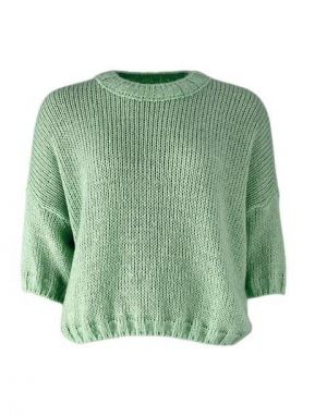Black Colour Tiana Knit Blouse in Mint Green