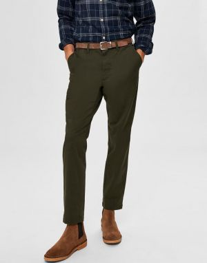 Selected Homme Miles Slim Fit Chinos in Forest Night