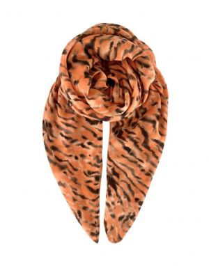 Black Colour Nella Tiger Scarf in Apricot
