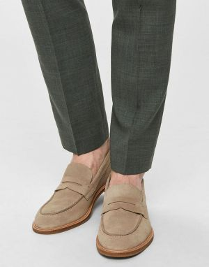 Selected Homme Baxter Suede Loafers in Cornstalk