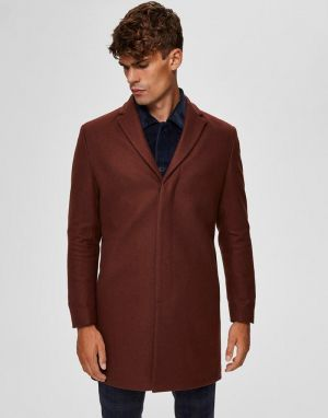 mens brown tailored coats