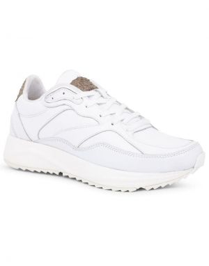 Woden Sophie Leather Trainers in Bright White