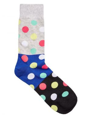 Jack and Jones Block Dot Socks in Light Grey