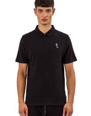 Religion Link Polo Top in Dark Indigo