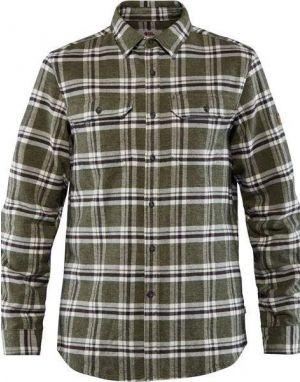 Fjallraven Ovik Heavy Flannel Shirt in Deep Forest