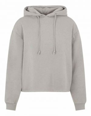 Pieces Chilli Washed Hoodie in Light Grey