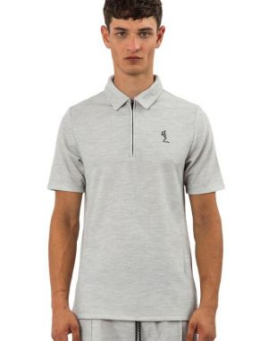 Religion Marbs Polo Top in Light Grey