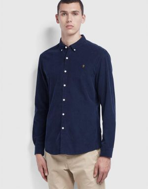 Farah Fontella Cord Shirt in True Navy