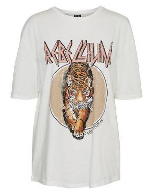 Vero Moda Forever Oversized T-shirt - Travertine Tiger