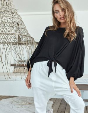 Eb and Ive Savannah Tie Top in Black