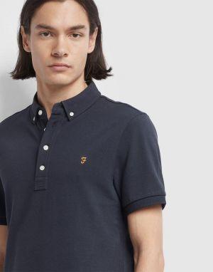 Farah Ricky Polo Shirt in True Navy