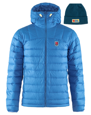 fjallraven expedition pack down hoodie, vardag beanie in storm