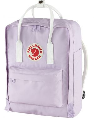 Fjallraven Classic Kanken Backpack in Pastel Lavender and Cool White