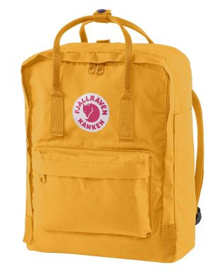 fjallraven kanken backpack in warm yellow
