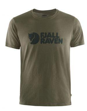 Fjallraven Logo T-Shirt in Dark Olive
