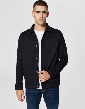 selected homme matt jacket in navy