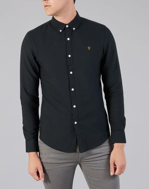 black farah mens brewer shirt