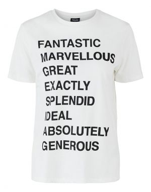 Pieces Fantastic T-shirt in White