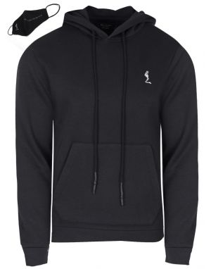Mens Religion Clothing Puller Hooded Top in Black