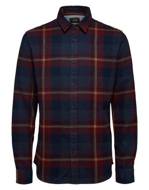 Selected Homme Gunnar Check Shirt in Port Royale