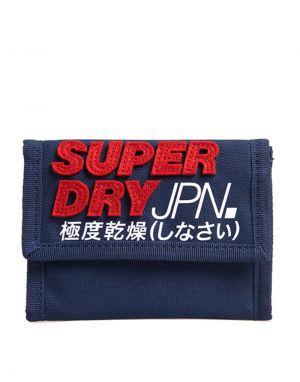 Superdry Montauk Velcro Wallet in Navy