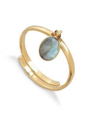 SVP Rio Ring in Labrodite Gold