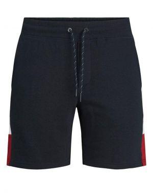 Jack and Jones Logo Blocking Sweat Shorts in Navy