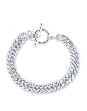 Big Metal Molly Curb Chain Bracelet - Silver