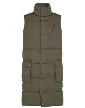 Numph Connery Sleeveless Padded Gilet in Grape Leaf