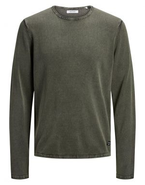 Jack and Jones Eleo Knitted Jumper in Dusty Olive