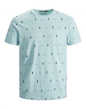Jack and Jones Poolside Printed T-shirt in Sea Angel