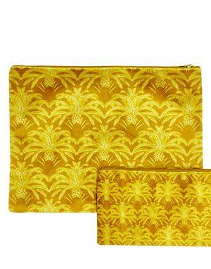 Vanilla Fly Velvet Pouch Large - Print 25