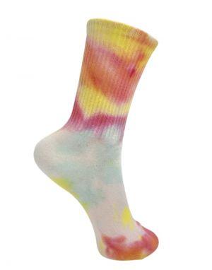Black Colour Vegas Tie Dye Socks in Yellow