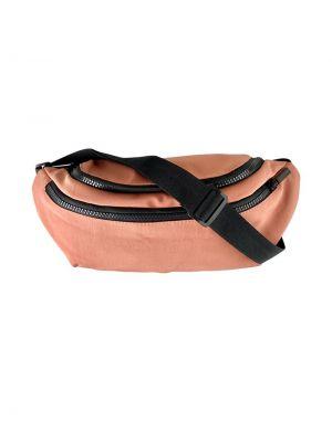 Black Colour Vada Nylon Bumbag in Pink