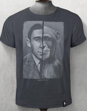 Dirty Velvet Chimpmanzee T-shirt - Charcoal