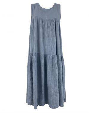 Black Colour Dune Long Maxi Dress in Light Blue