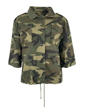 Black Colour Jordan Camouflage Jacket