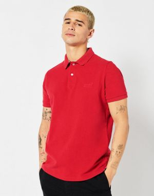 Superdry Classic Pique Polo in Hike Red Marl