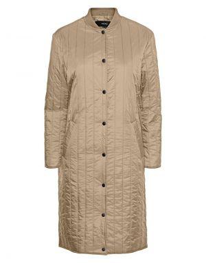 Vero Moda Gigi Long Padded Jacket in Safari